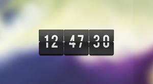 Transparent Flip Clock PSD