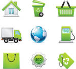 Environmental Icons Vector EPS