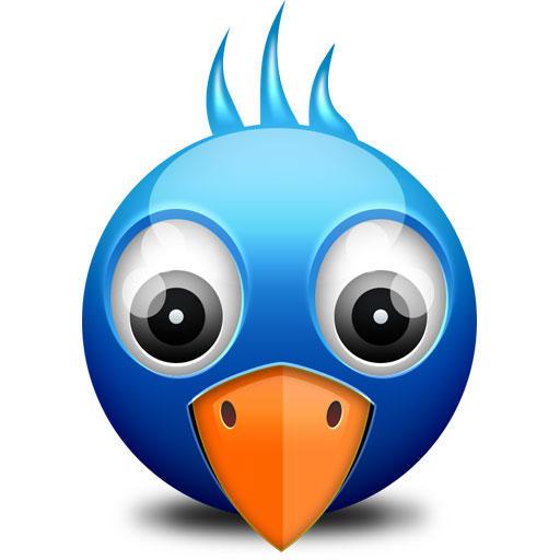 Little Twitter Birdie Icon (PSD) by softarea