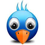 Little Twitter Birdie Icon (PSD)
