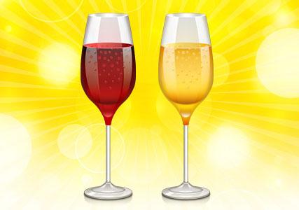 Wine Glass Icon (PSD)