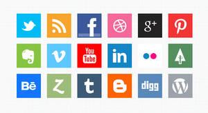 Minimal Social Media Icons (PSD)