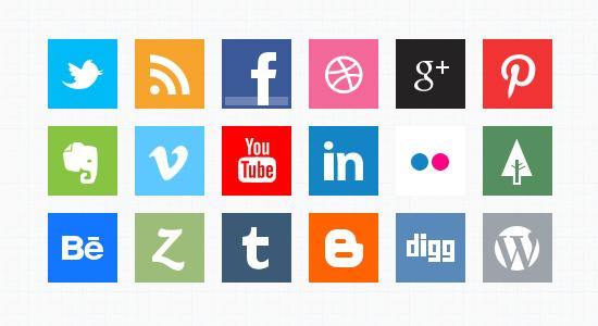 Minimal Social Media Icons (PSD) by softarea