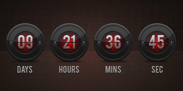 Flip Clock Countdown (PSD) by softarea
