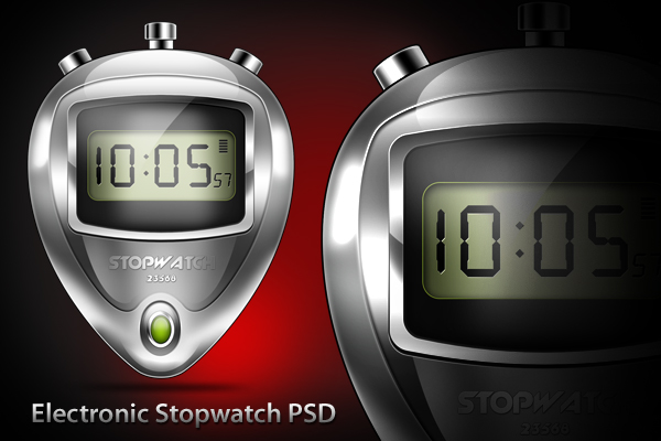 Electronic Stopwatch Icon (PSD)