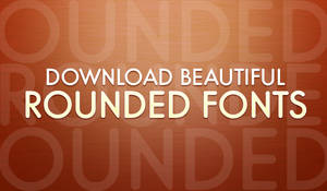 Beautiful Rounded Fonts Pack