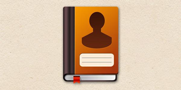 Address Book Icon (PSD)
