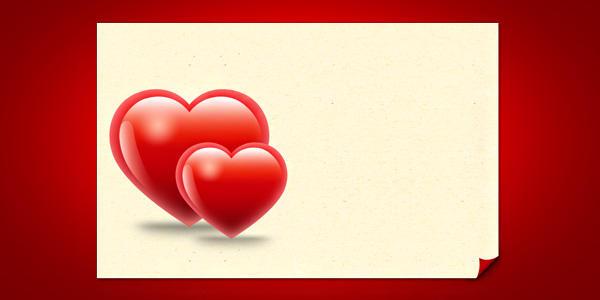 Valentine Hearts Card Template PSD by softarea on DeviantArt – Valentine Card Layouts