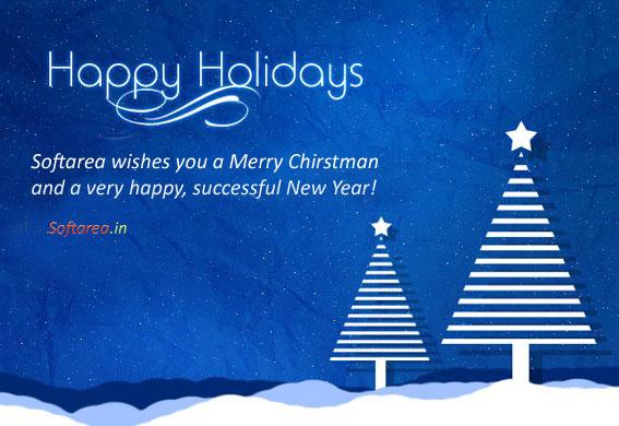 Happy Holidays Greeting Card (PSD)
