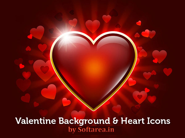 Valentine Background And Heart Icons
