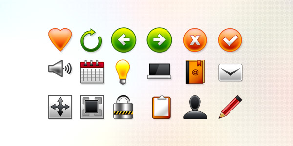 18 Vector Web Icons (PSD)
