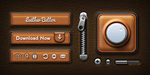 Leather UI Elements (PSD) by softarea