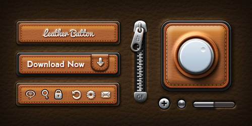 Leather UI Elements (PSD)