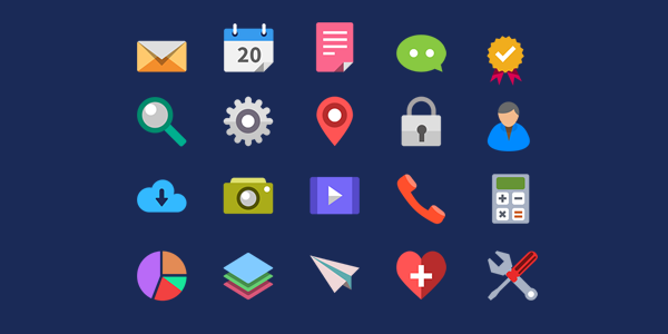 20 Flat Icons (PSD) by softarea