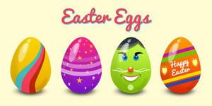 Easter Eggs Vector (PSD)