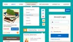 Ecommerce Flat UI Kit Vol.1 (PSD)