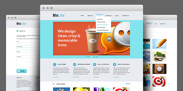 BisLite - HTML Coded And PSD Template by softarea