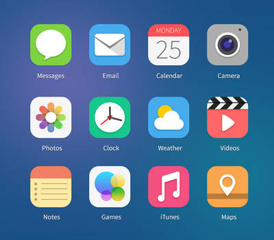 21 iOS7 Icon Concepts Vol.1 (PSD and PNG)
