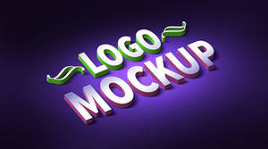 3D Logo And Text Effect Mockup (PSD)