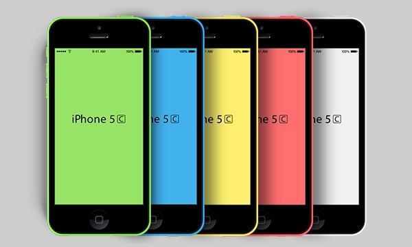 New iPhone 5C Mockup (PSD)