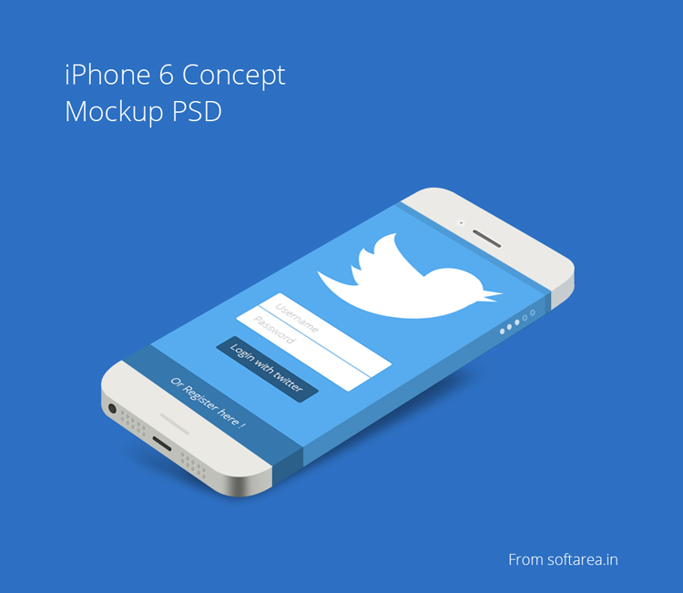 iPhone 6 Concept Mockup PSD