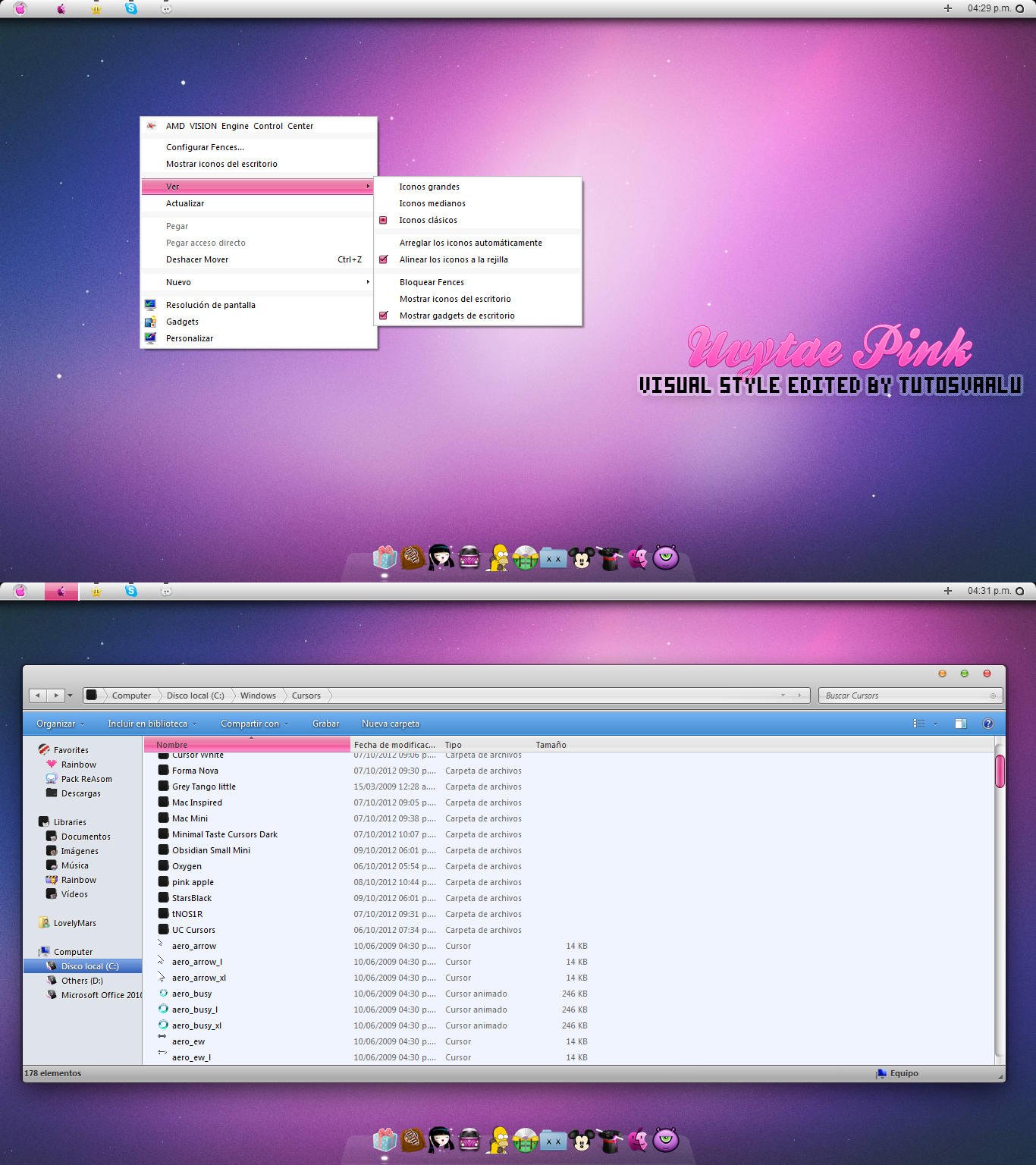 Theme w7 Uvytae Pink by TutosVaalu