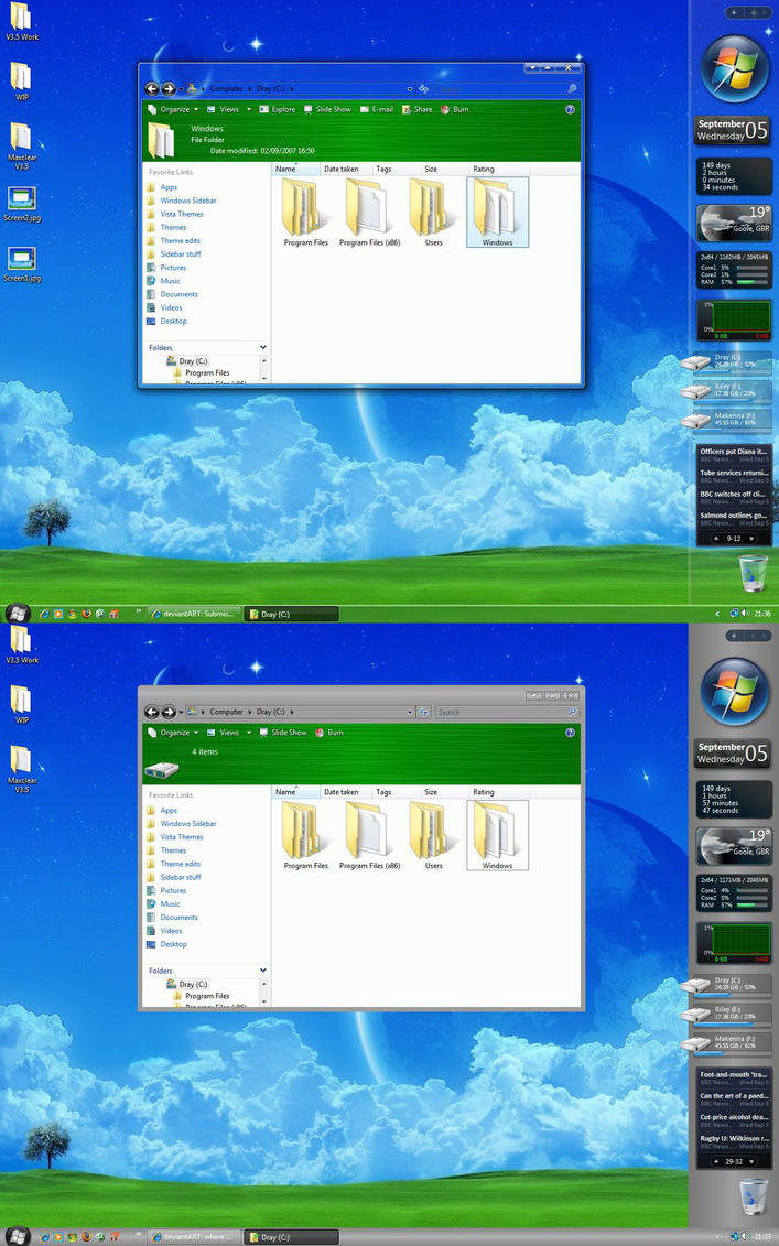 Maxclear V3.5 pack for Vista by sonicexcess
