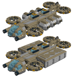 Lego Sci-Fi - Human Cargo ship (low altitude) by fearmaker782
