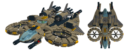 Lego Sci-Fi - Human Heavy assault helicopter by fearmaker782