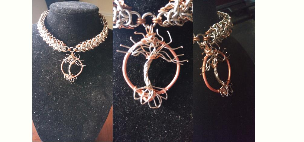 Wire tree pendant
