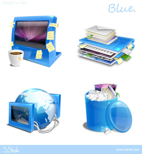 Blue icons DOWNLOAD by Shek0101
