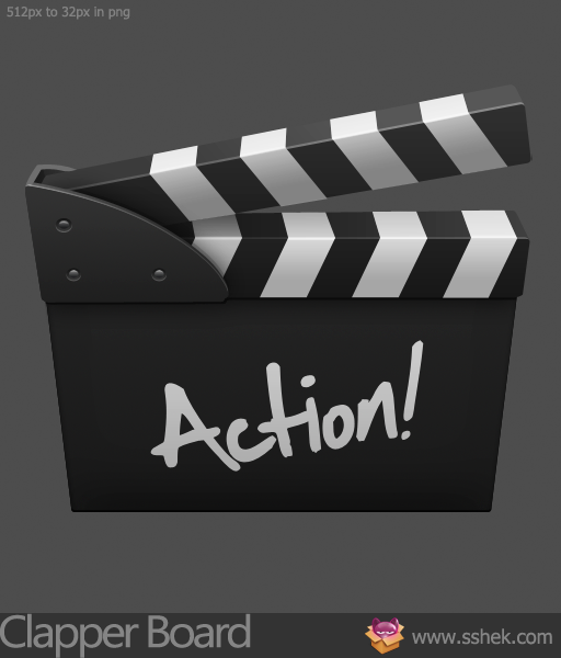 ClapperBoard icon by Shek0101