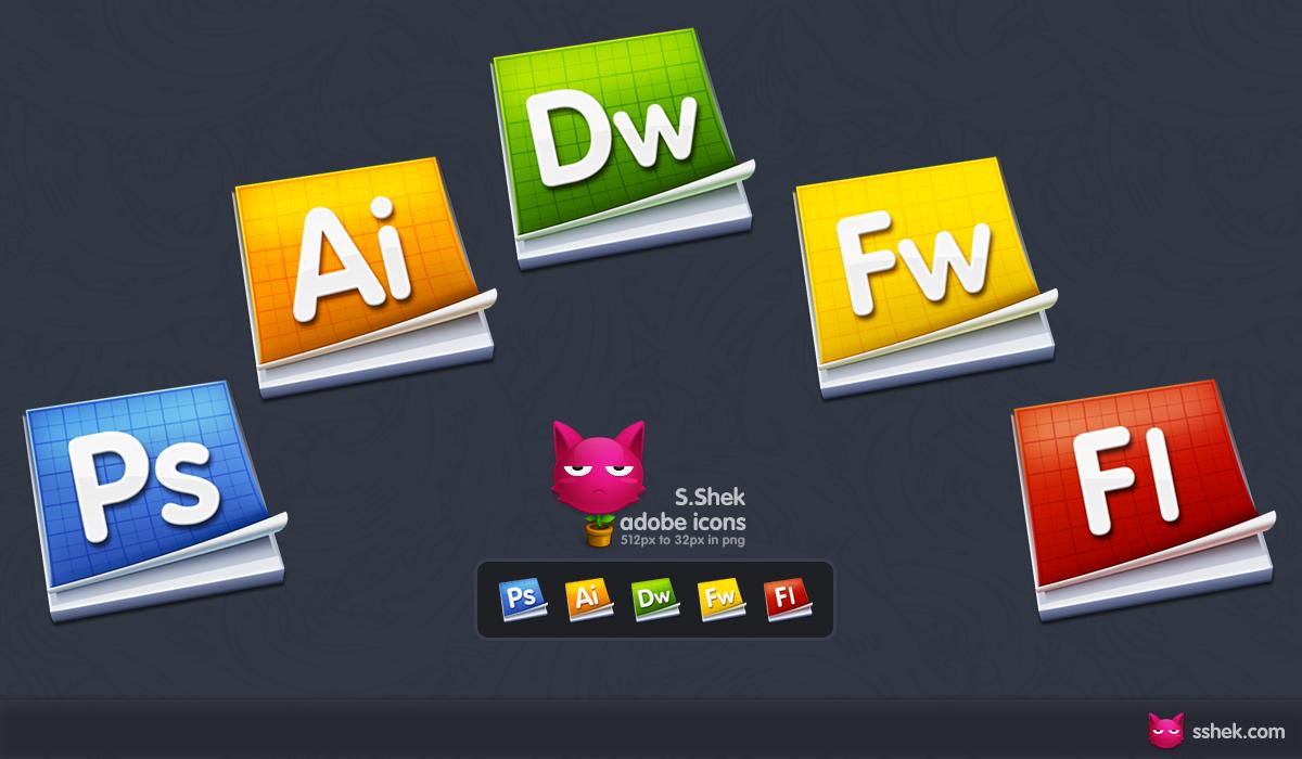 Adobe icons by Shek0101