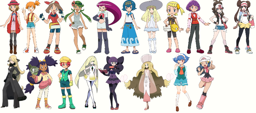 Pokemon And Y Anime Characters Names : Which of the female pokemon characters are better by
