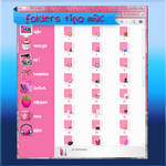 folders pink mac
