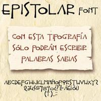 Epistolar font by Masklin8