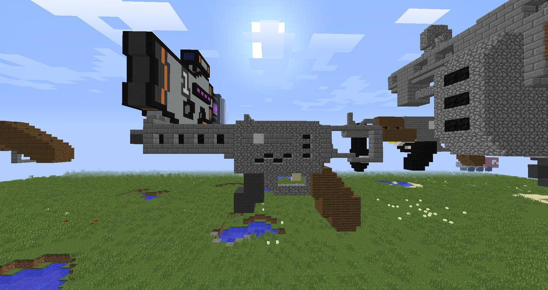 Minecraft schematics map - Josh's Carbine (SMG?) by JoshGold126 on on