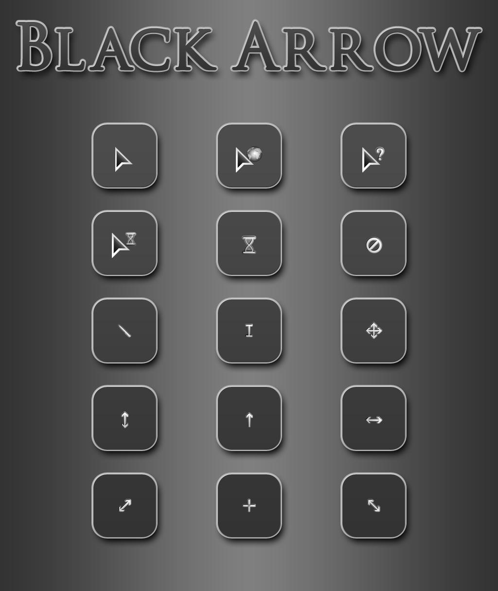 Black Arrow Cursor Pack