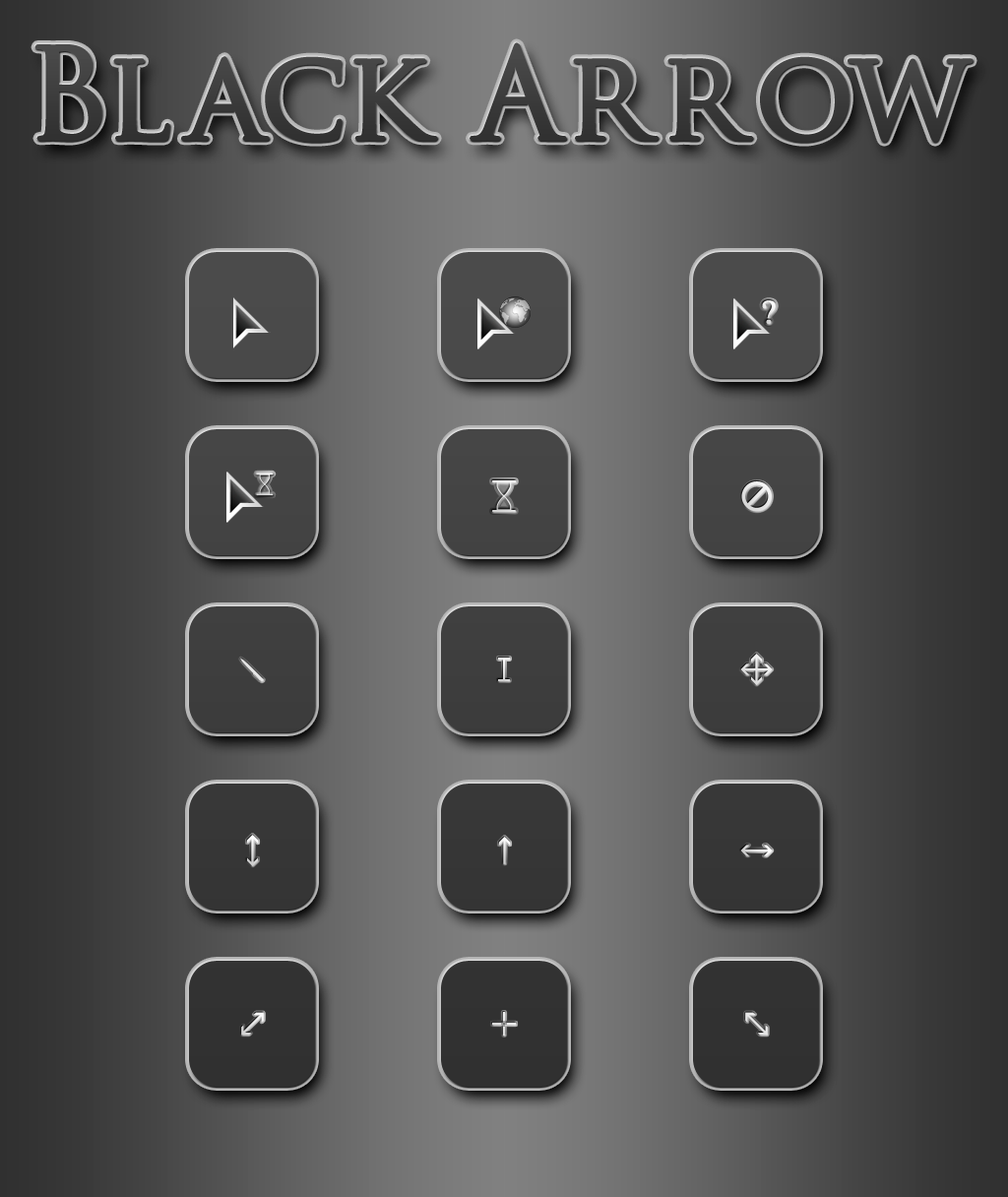 Black Arrow Cursor Pack by Atalor
