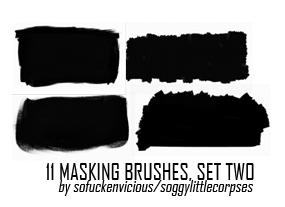 Masking Brushes 02 by soggylittlecorpses