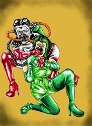 The Baroness gasses Madame Hydra (Black Beauty) by Fetartist