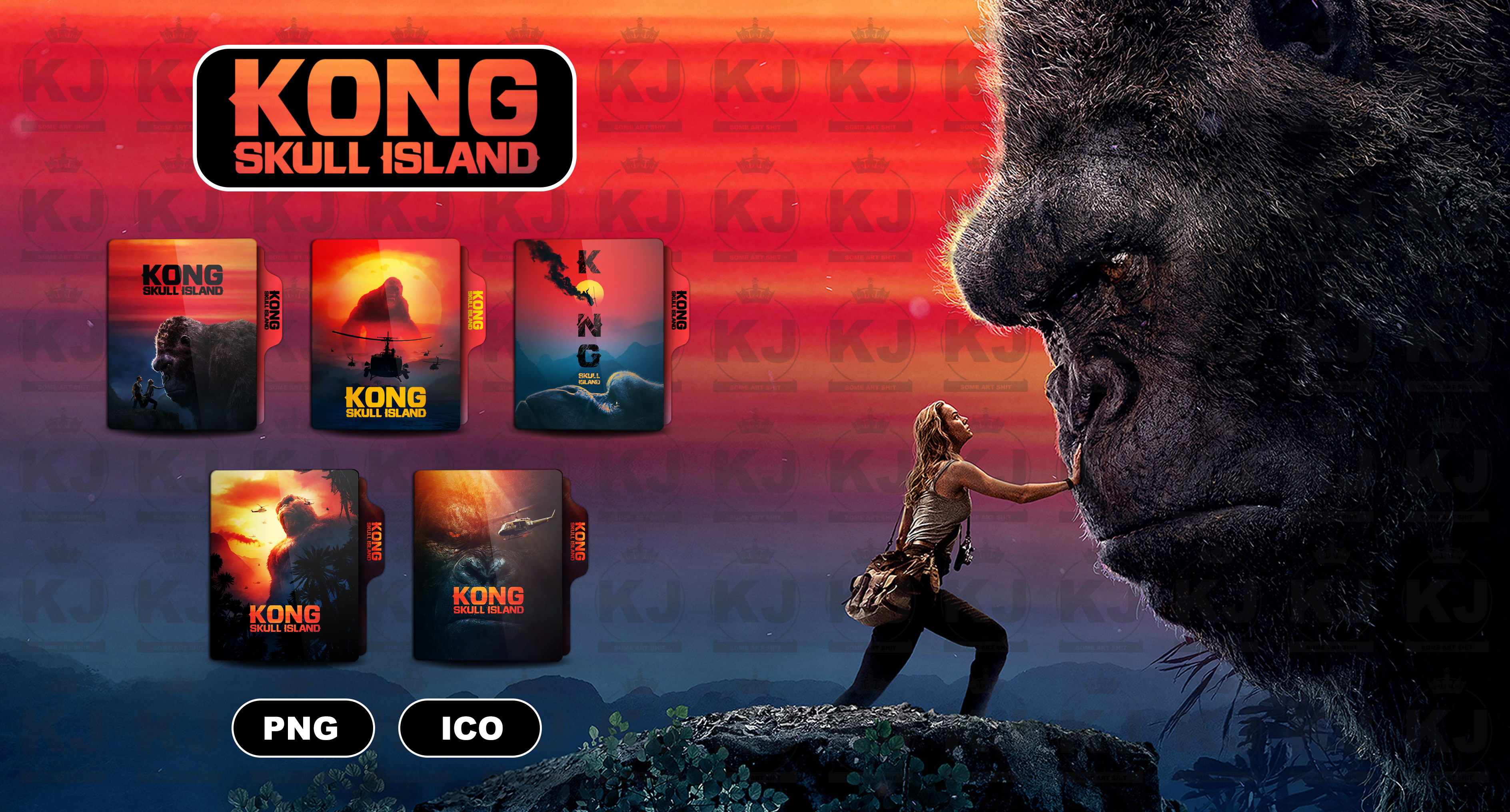 Kong Skull Island 2017 Folder Icon By Kingjoe93 On Deviantart