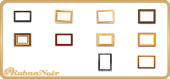 ImagePack 02 - wood Frame by Lady-Himiko