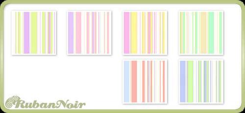 Pastel Soft Stripes Pattern by Lady-Himiko
