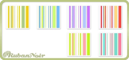 Pastel Bright Stripes Pattern by Lady-Himiko