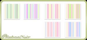 Pastel Rainbow Stripes Pattern