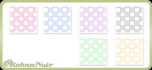 Pastel Dotted Cubes Pattern