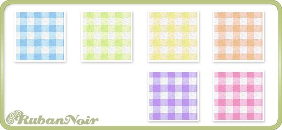 Rainbow Small Checks Pattern