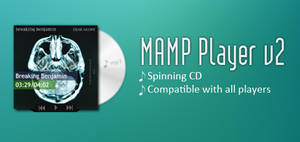 Mamp Player v2 Cd Cover Rainmeter Player Skin