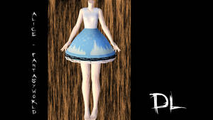 MMD Winter Lace dress by Alice-Fantasyworld